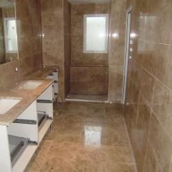 bathroom cream marble perlado
