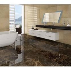salle de bain marbre ivoire poli