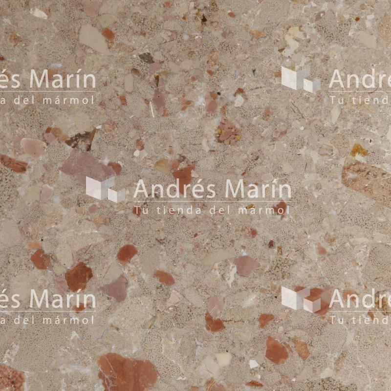 marmol rojo brechado