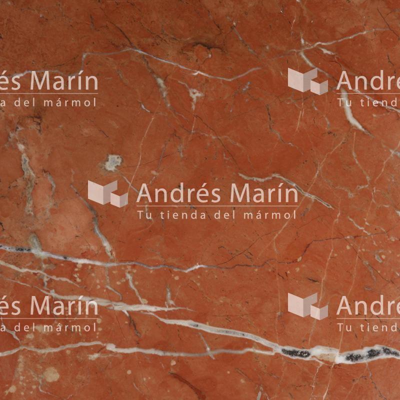 rouge alicante marbre