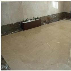 suelo marmol crema niza pulido