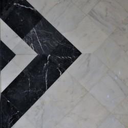 marbre blanc avec noir marquine