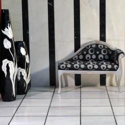 blanc et noir marbre poli
