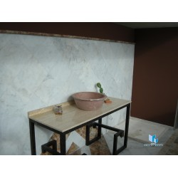 bathroom with white marble