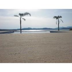 Construcción piscina de piedra, Outlet mármoles y granitos