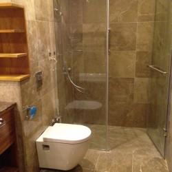 bathroom in marble light emperador