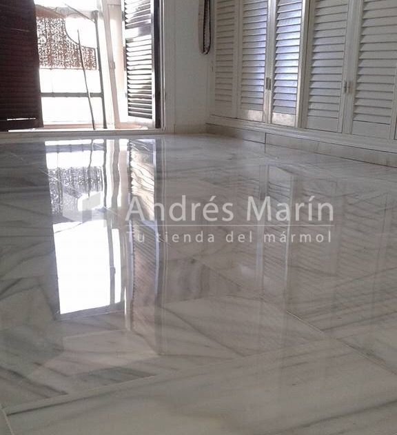 marbles white polished